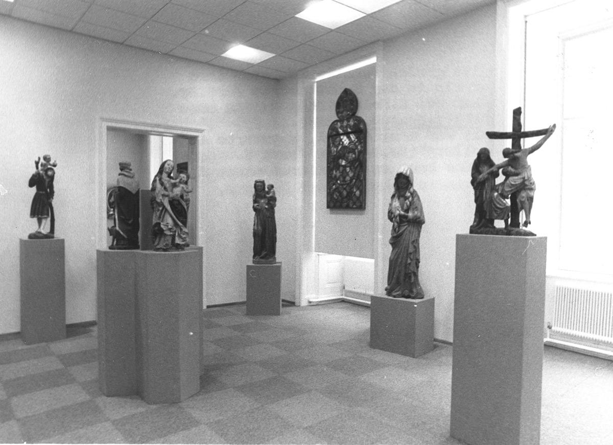 Der Ausstellungsbereich in den Räumlichkeiten im Zwettlerhof ab 1973. Foto: Johann Gürer