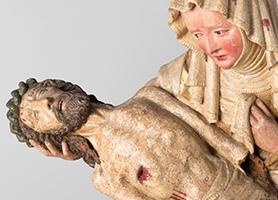 Wopfinger Pietà Um 1420-1430  Diözesane Sammlung Leni Deinhardstein, Lisa Rastl, Dom Museum Wien