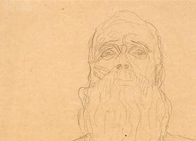 Alter Mann Undatiert Gustav Klimt (*1862 Baumgarten bei Wien, + 1918 in Wien) 1862 Baumgarten b. Wien - 1918 Wien Sammlung Otto Mauer Leni Deinhardstein, Lisa Rastl, Dom Museum Wien