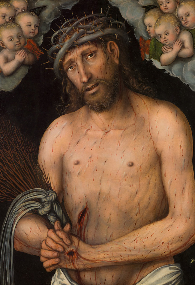 Schmerzensmann 1537 Lucas Cranach d. Ä. (*1472 Kronach, Oberfranken; † 1553 Weimar) Diözesane Sammlung Leni Deinhardstein, Lisa Rastl, Dom Museum Wien