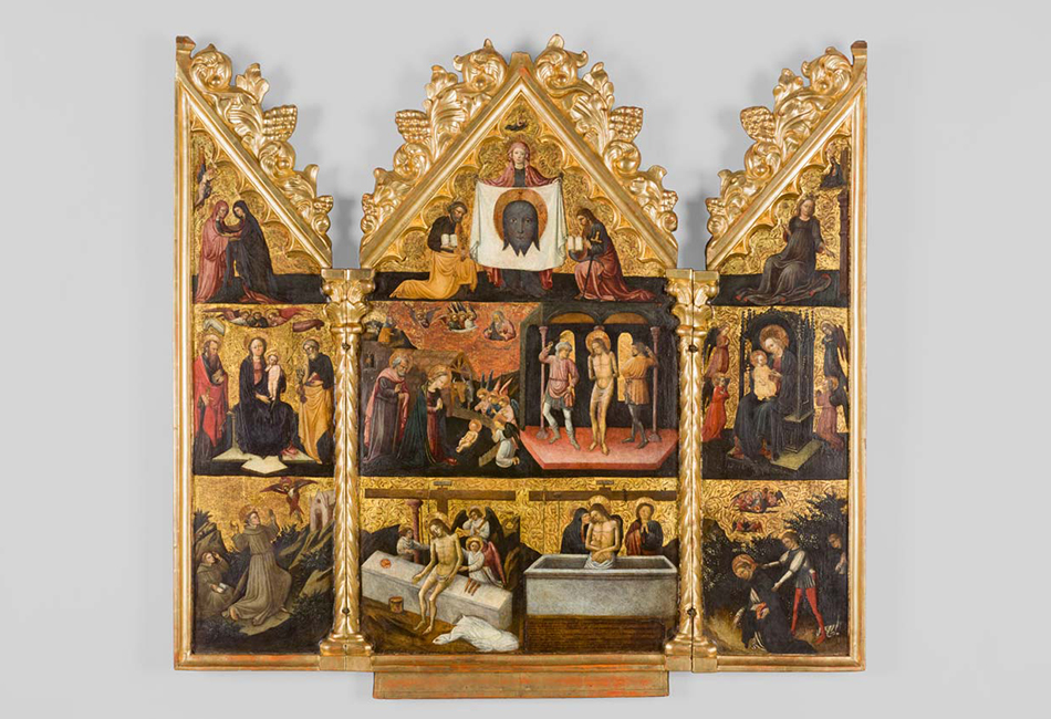 Lombardisches Triptychon Mitte 15. Jahrhundert (Rahmen: 19. Jahrhundert)  Diözesane Sammlung Leni Deinhardstein, Lisa Rastl, Dom Museum Wien