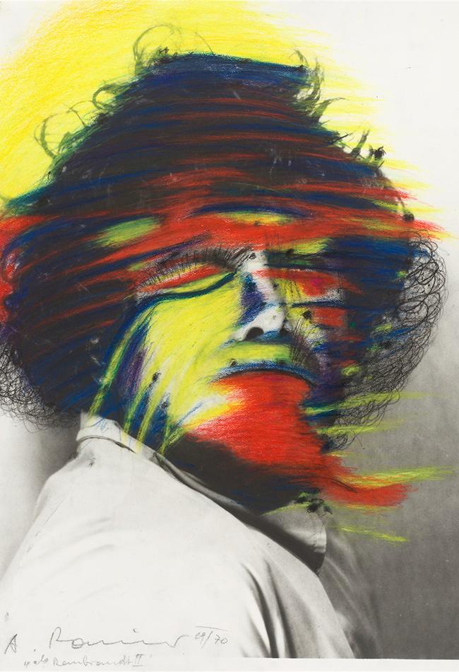 Selbstportrait  1969 od. 1970 Arnulf Rainer (* 1929 Baden bei Wien) 1929 Baden b. Wien Sammlung Otto Mauer Leni Deinhardstein, Lisa Rastl, Dom Museum Wien