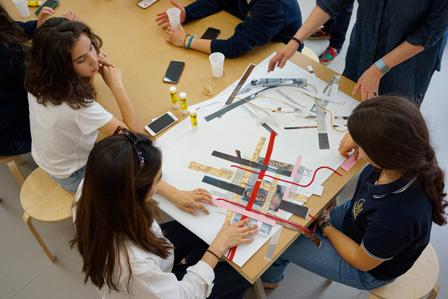 Students in Dom Atelier. Photo: Raimund Pleschberger