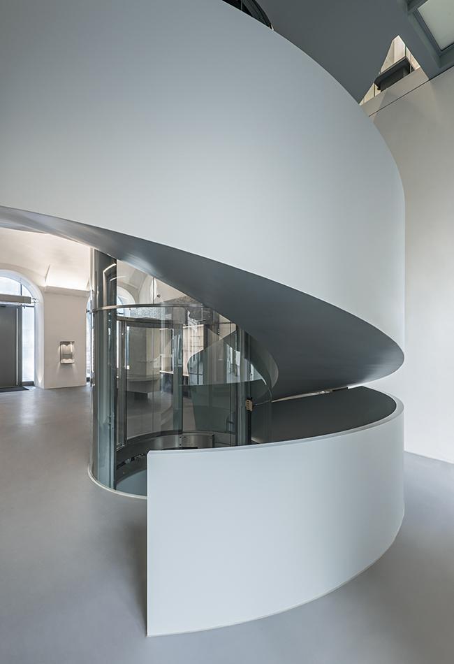 Die Wendeltreppe, Erdgeschoss Dom Museum Wien. Foto: Hertha Hurnaus