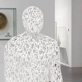 Jaume Plensa, Le Voleur de Mots IV, 2008. Ausstellungsansicht