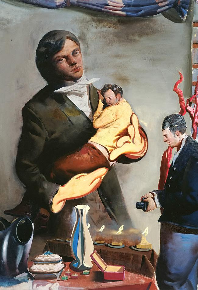 Neo Rauch, Vater (Detail), 2007. © Sammlung Ruth. Courtesy Galerie EIGEN + ART Leipzig/Berlin und David Zwirner New York/London/Hong Kong. Foto: Uwe Walter, Berlin, Bildrecht Wien, 2019