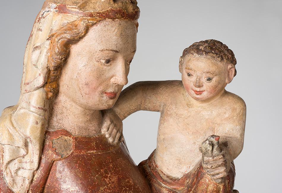 Thernberger Madonna, um 1320. Dom Museum Wien, Leihgabe der Pfarre Thernberg, NÖ. Foto: Deinhardstein, Rastl