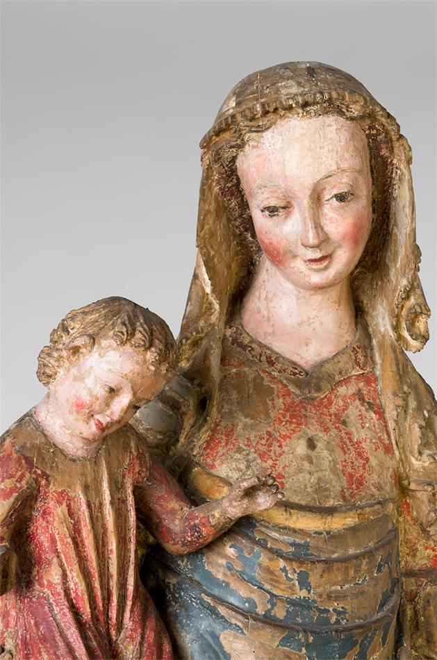 Erlacher Madonna, um 1320-1330. Dom Museum Wien. Foto: Deinhardstein, Rastl