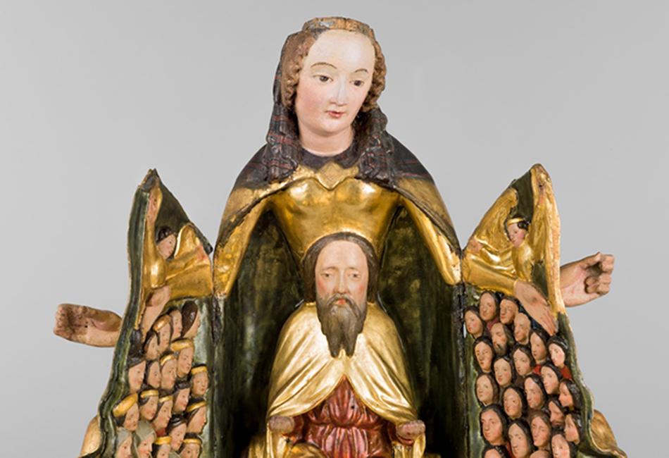 Schreinmadonna, um 1420-30. Dom Museum Wien Leihgabe der Pfarre Schwarzau am Steinfeld, Niederösterreich Foto: Deinhardstein, Rastl