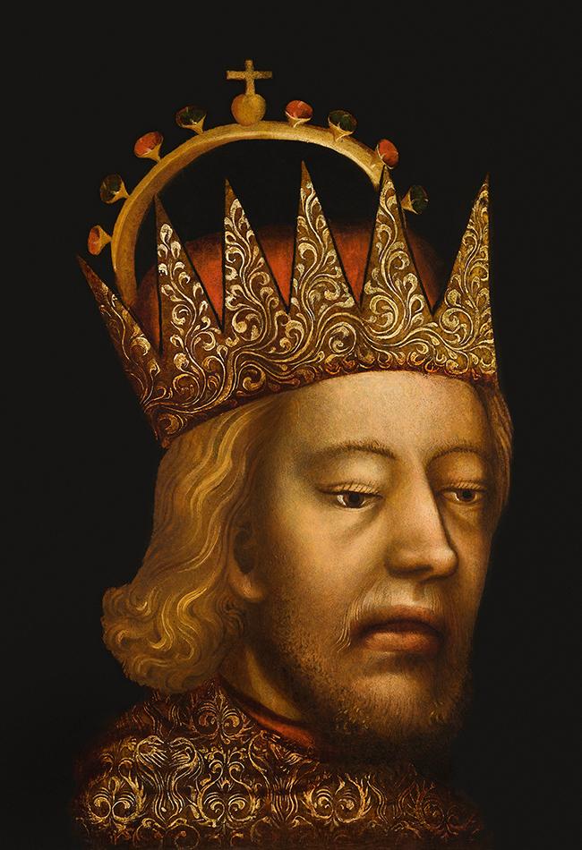Das Porträt Rudolf IV (Detail), um 1360. Dom Museum Wien Leihgabe der Domkirche St. Stephan, Wien  Foto: Deinhardstein, Rastl
