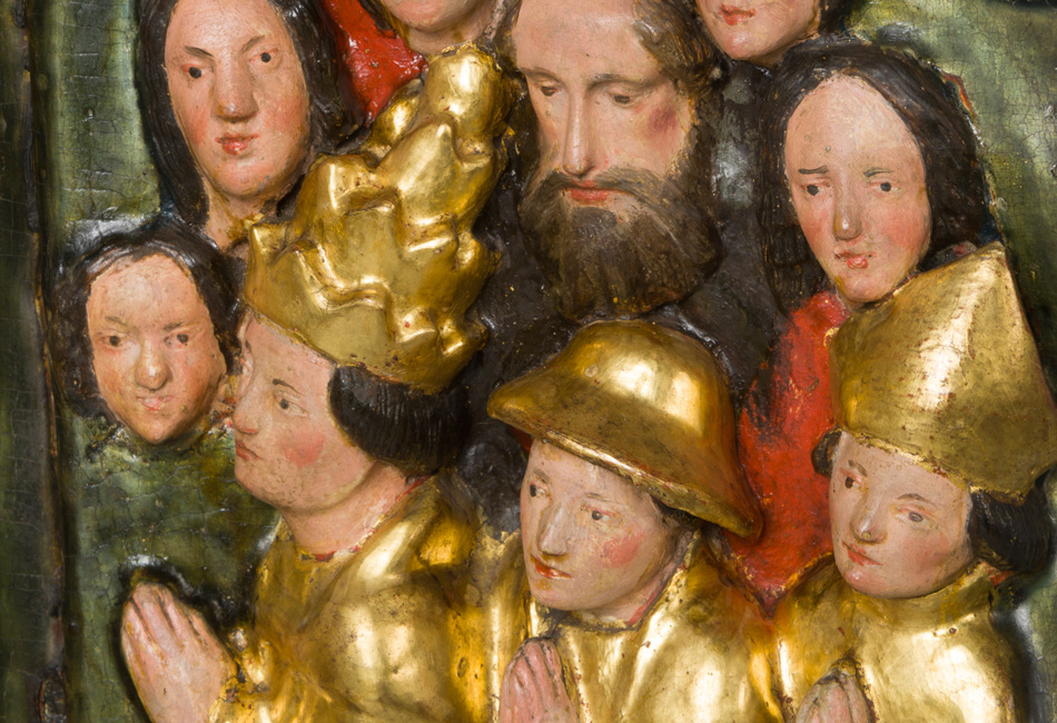 Schreinmadonna (Detail) um 1420-30. Dom Museum Wien. Leihgabe der Pfarre Schwarzau am Steinfeld, Niederösterreich. Foto: Deinhardstein, Rastl